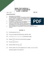 11 Mathematics Mixed Test 01