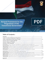 (General Framework for the Programme of the Transitional Government)