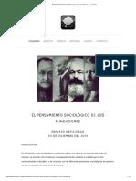 El Pensamiento Sociológico (I)_ Los Fundadores — Colloqui