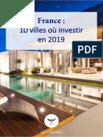 10 villes ou investir
