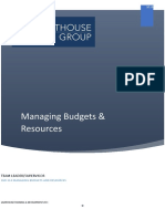 Budgets & resources