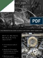 Metals in automobiles PPT