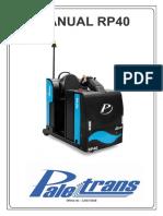 Manual Operação Rebocador RP40 - Paletrans
