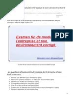 fsjesglm-cours.blogspot.com-Examen fin de module lentreprise et son environnement corrigé
