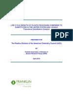 LCI analysis & comparison of plastics