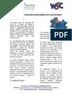 RECOMENDACIONES PARA INSTALACION BOMBA SPLIT CASE DE WEMCO