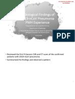 Radiological Findings of 2019-NCoV Pneumonia