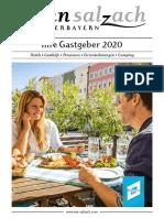 Gastgeberverzeichnis Inn-Salzach 2020
