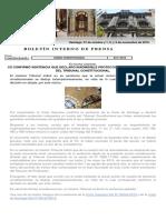 Informe de Prensa 31 de octubre y 1 2 3 y 4 de noviembre de 2019