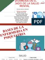 BASES DE LA ENFERMERIA EN PSIQUIATRIA