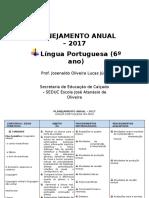PLANEJAMENTO - Língua Portuguesa