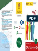 40 años de protección social -Tríptico
