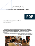 B1 Level English Writing - Theory, the SPECIFICS