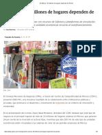En México, 18 millones de hogares dependen de Pymes