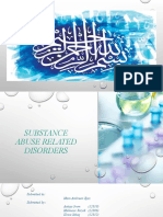 Substance abuse related disorders