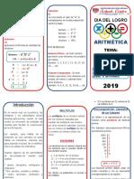 triptico Aritmetica 6°