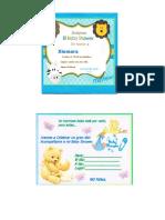 INVITACION DEL BABY SHAWER