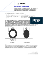 Boeing - Calculate aircraft Tire Contact Area