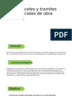 ARANCELES Y TRAMITES DE OBRA