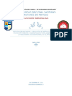 Estudio del estados y ubicación de señales y rutas de vacuación frente a desastres naturales en la ciudad universitaria unasam