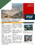 PXR-PC-08-2012 Apertura y Cierre de Líneas y Equipos de Proceso