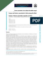 SILVA 2018. CAUSAS Y FACTORES DE CAIDAS EN EL ADULTO BRASIL