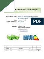 Exemple de Rapport d'Audit Energetique