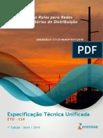 ETU 124 - Para-Raios para Redes Secundárias de Distribuição