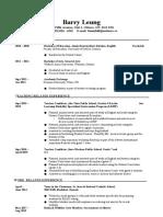 teaching resume international