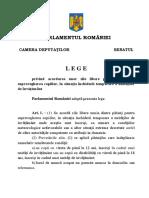 L E G E Privind Acordarea Unor Zile Libere Parintilor Pentru Supravegherea Copiilor in Situatia Inchiderii Temporare a Unitatilor de Invatamant