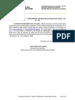 AVISO DE PRORROGACAO - CONCORRENCIA SRP N 051 2019 - CPL 02 - SEE