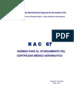 RAC  67 - Otorgamiento Certificado Médico (1)