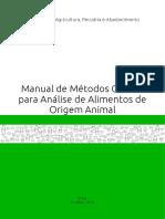 Manual de Mtodos Oficiais para Anlise de Alimentos de Origem Animal 2ed.pdf