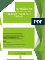 1 CONVENIOS RATIFICADOS POR COLOMBIA EN (SST) LEGISLACIÓN