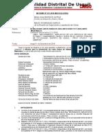 INFORME DEVOLUCION CARTA FIANZA -ADELANTO EFECTIVO-MATERIALES