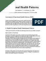 gordons health functional pattern