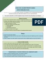 CISSS - Recommandations et grille de symptômes