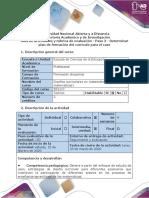 Guía de actividades y rúbrica de evaluación - Paso 2 - Determinar plan de formación del currículo para el caso