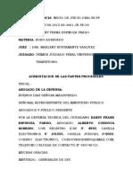 AUDIENCIA DANNY  ROBO AGRAVADO