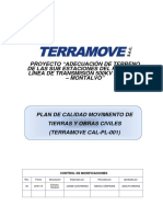 Plan de Calidad Movimiento de Tierras y Obras Civiles