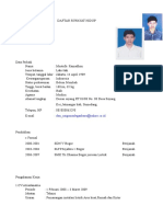 Template Cv Bahasa Indonesia
