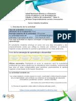 Guía de Actividades y Rúbrica de Evaluación Reto 5 Emprendimiento Social e Innovación (1) Catedra Unadista