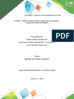 Unidad 1 - Sistema Administrativo Ambiental De Colombia Y Legislación Ambiental Vigente