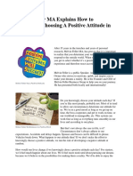 Melvin Feller MA Explains How to Knowingly Choosing a Positive Attitude in Life