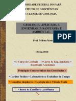 Geologia Aplicada a Eng. Sanitária e Ambiental - Aula 1