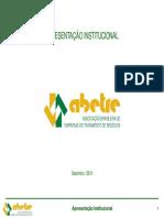 ABETRE - Apresentacao Institucional - 12-2014