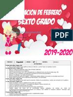 00 Febrero - 6to Grado 2020