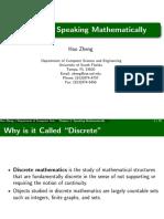 Speaking mathematically