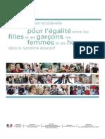 Convention interministérielle pour l'égalité entre les filles et les garçons, les femmes et les hommes dans le système éducatif-2013