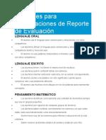 40 Frases para Observaciones de Reporte de Evaluación